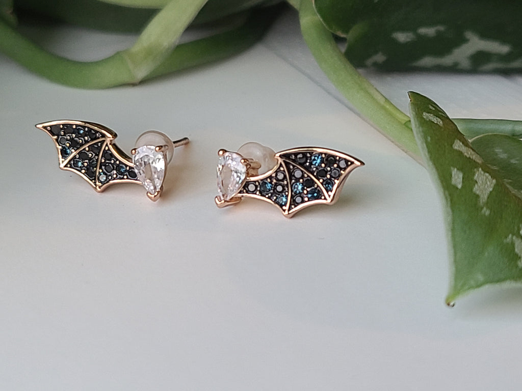 Copper Bat Wing Studs