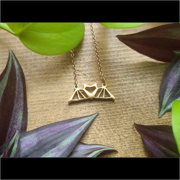 Geometric Bat Necklace