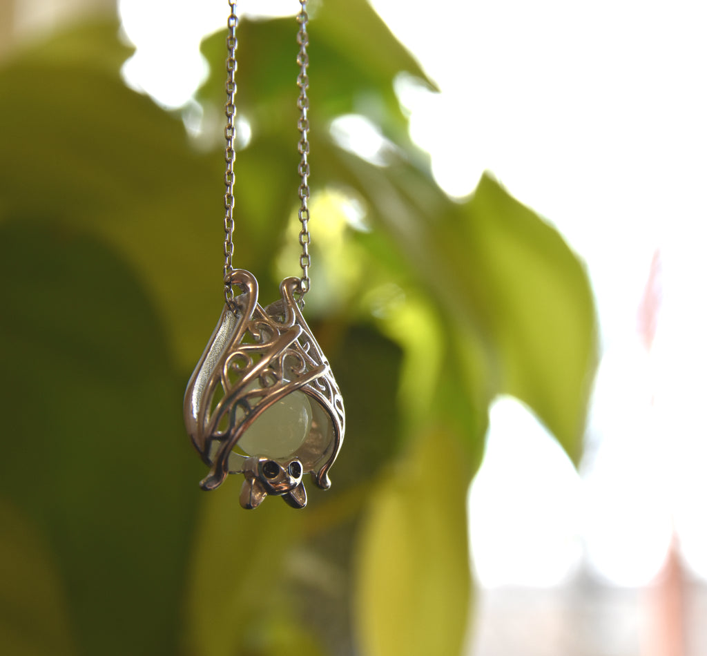 Sterling Silver Glow In The Dark Pendant