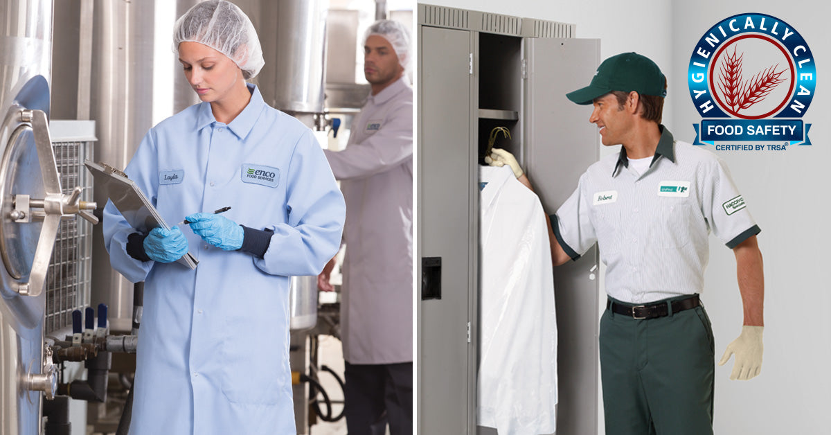 UniFirst delivers hygienically laundered uniforms.