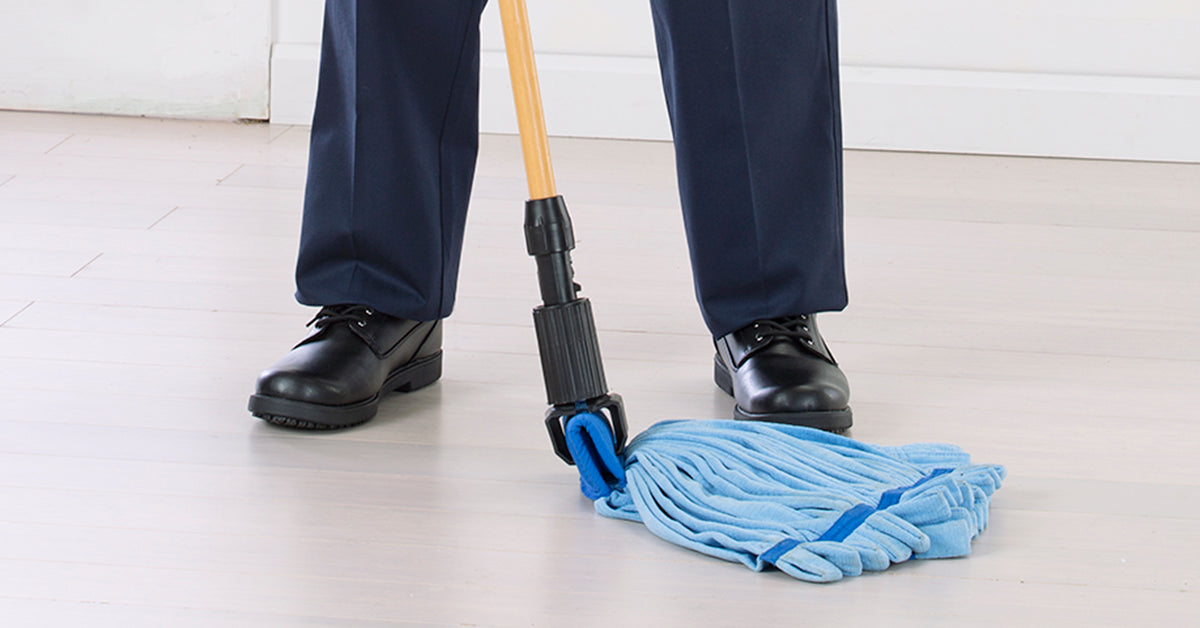 UniFirst mops in use