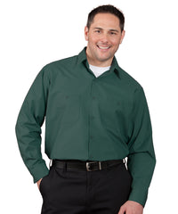 Spruce Green 100% Cotton UniWeave® Shirts Shown in UniFirst Uniform Rental Service Catalog