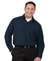 Navy Blue 100% Cotton UniWeave® Shirts Shown in UniFirst Uniform Rental Service Catalog