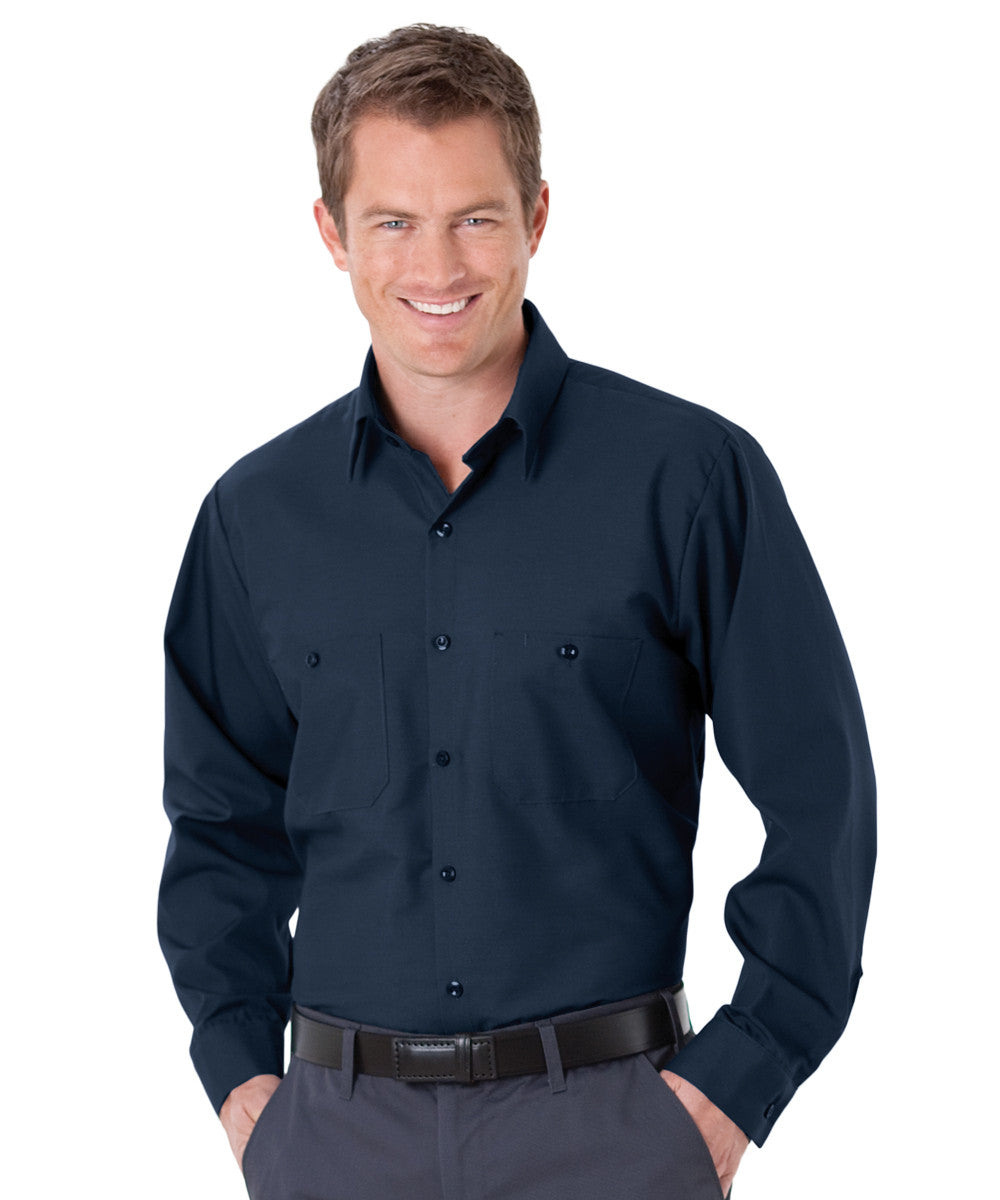 Navy Blue UniWeave® Soft Comfort Uniform Shirts Shown in UniFirst Uniform Rental Service Catalog