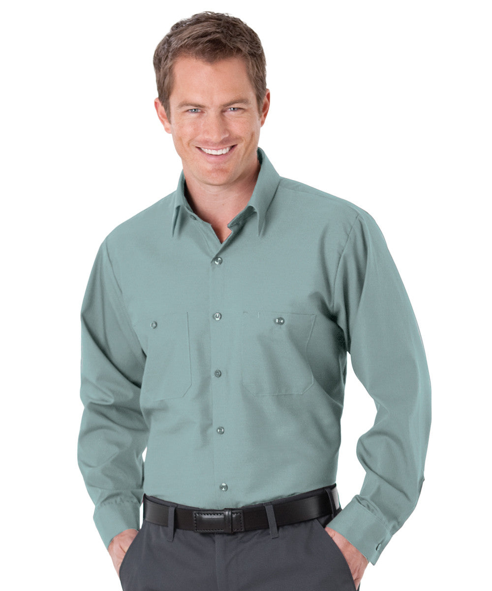 Mint Green UniWeave® Soft Comfort Uniform Shirts Shown in UniFirst Uniform Rental Service Catalog
