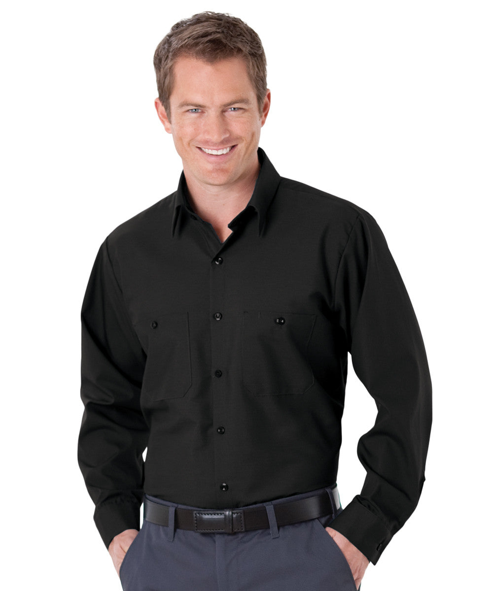 Black UniWeave® Soft Comfort Uniform Shirts Shown in UniFirst Uniform Rental Service Catalog