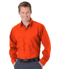 Orange UniWeave® Soft Comfort Uniform Shirts Shown in UniFirst Uniform Rental Service Catalog