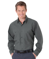 Charcoal UniWeave® Soft Comfort Uniform Shirts Shown in UniFirst Uniform Rental Service Catalog