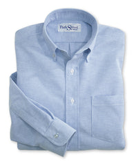 Light Blue ParkStreet® Oxfords Shown in UniFirst Uniform Rental Service Catalog