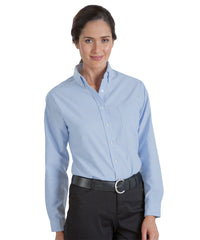 Light Blue UniFirst® Women's Oxfords Shown in UniFirst Uniform Rental Service Catalog