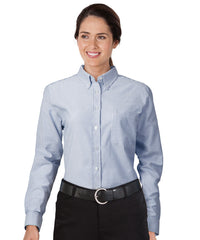 Blue/White UniFirst® Women's Oxfords Shown in UniFirst Uniform Rental Service Catalog