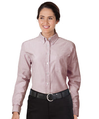Burgundy/White UniFirst® Women's Oxfords Shown in UniFirst Uniform Rental Service Catalog