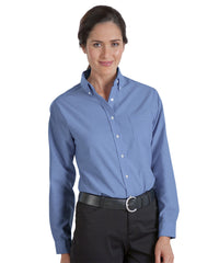 French Blue UniFirst® Women's Oxfords Shown in UniFirst Uniform Rental Service Catalog