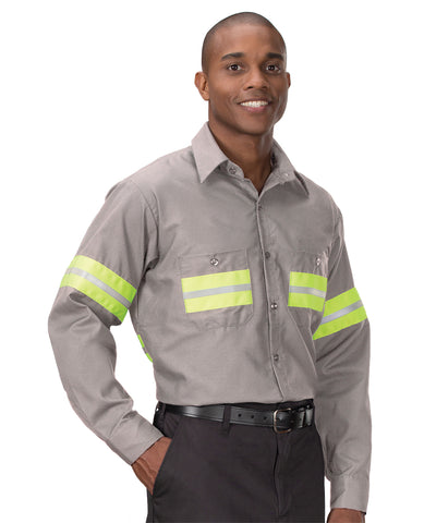 Spotlite LX® Enhanced Visibility Reflective Work Shirts with Yellow Striping