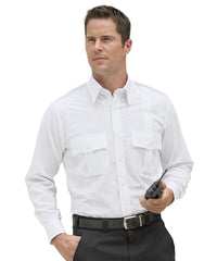 White Security Shirts Shown in UniFirst Uniform Rental Service Catalog