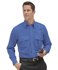 Medium Blue Security Shirts Shown in UniFirst Uniform Rental Service Catalog