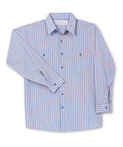 Breeze Weave® Wide Stripes Work Shirts