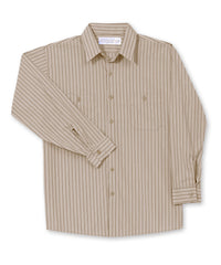 Tan/Brown BreezeWeave® Shirts Shown in UniFirst Uniform Rental Service Catalog