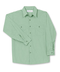 Lt.Green/Dk.Green BreezeWeave® Shirts Shown in UniFirst Uniform Rental Service Catalog