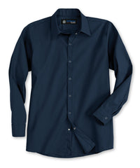 Navy Blue UniWeave® Pocketless Food Service Shirts Shown in UniFirst Uniform Rental Service Catalog