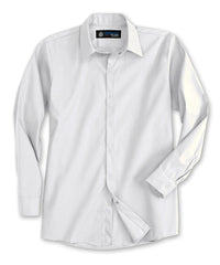 White UniWeave® Pocketless Food Service Shirts Shown in UniFirst Uniform Rental Service Catalog