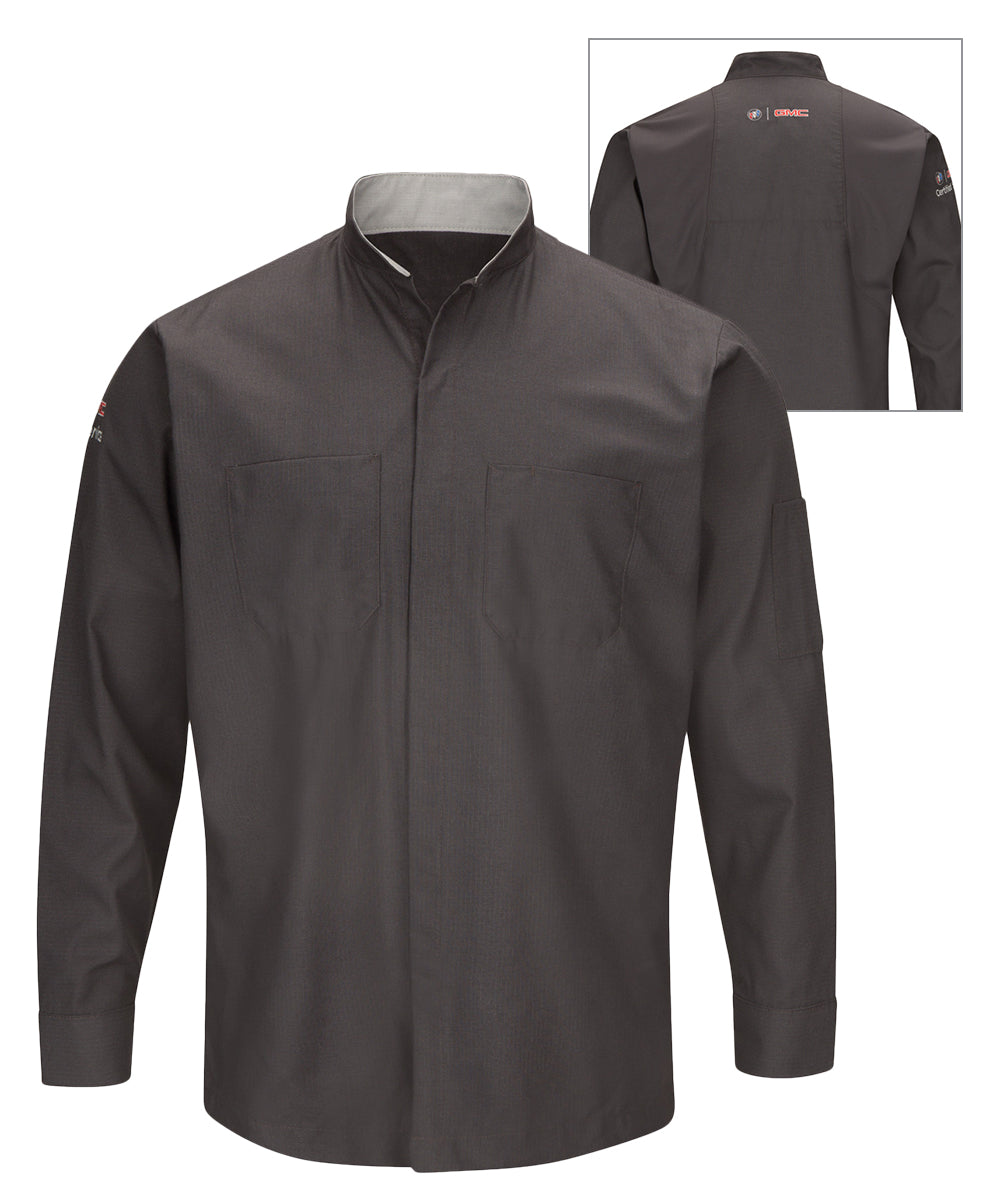 Long sleeve Buick® GMC® Technician Shirts (Charcoal) as shown in the UniFirst Uniform Rental Catalog