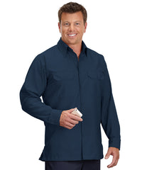 Navy Blue Solid Ripstop Shirt Shown in UniFirst Uniform Rental Service Catalog