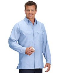 Light Blue Solid Ripstop Shirt Shown in UniFirst Uniform Rental Service Catalog