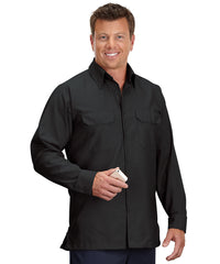 Black Solid Ripstop Shirt Shown in UniFirst Uniform Rental Service Catalog