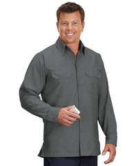 Charcoal Solid Ripstop Shirt Shown in UniFirst Uniform Rental Service Catalog