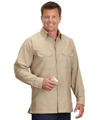Khaki Solid Ripstop Shirt Shown in UniFirst Uniform Rental Service Catalog
