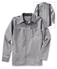Men's OilBlok Performance Shirts in Lt. Grey/Dk. Grey as shown in the UniFirst UniForm Rental Catalog