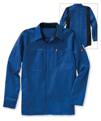 Men's OilBlok Performance Shirts in Royal/Black as shown in the UniFirst UniForm Rental Catalog