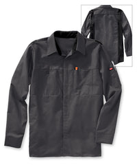 Men's OilBlok Performance Shirts in Charcoal/Black as shown in the UniFirst UniForm Rental Catalog