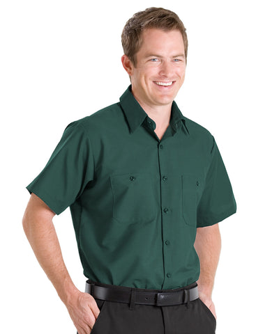 Spruce Green UniFirst® 100% Cotton Shirts Shown in UniFirst Uniform Rental Service Catalog
