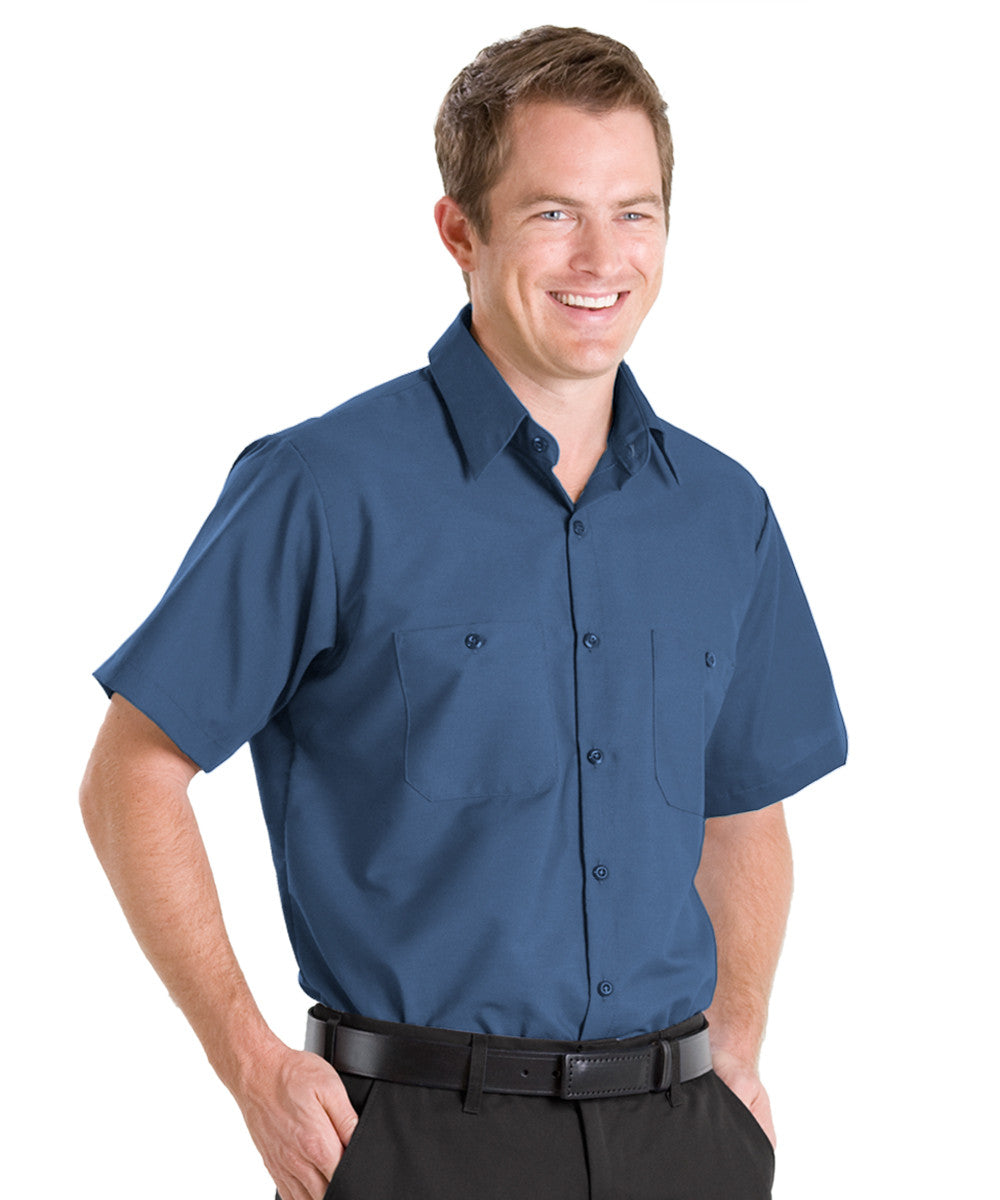 Postman Blue UniFirst® 100% Cotton Shirts Shown in UniFirst Uniform Rental Service Catalog
