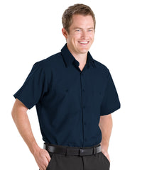 Navy Blue UniFirst® 100% Cotton Shirts Shown in UniFirst Uniform Rental Service Catalog