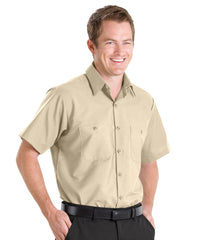 Tan UniFirst® 100% Cotton Shirts Shown in UniFirst Uniform Rental Service Catalog