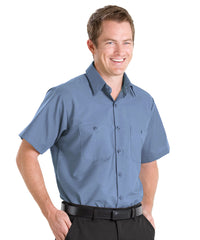 Light Blue UniFirst® 100% Cotton Shirts Shown in UniFirst Uniform Rental Service Catalog