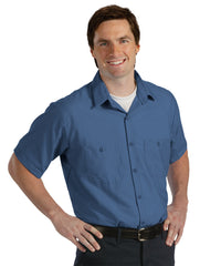Postman Blue UniWeave® Soft Comfort Uniform Shirts Shown in UniFirst Uniform Rental Service Catalog