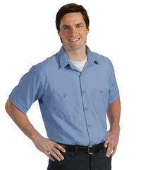 Light Blue UniWeave® Soft Comfort Uniform Shirts Shown in UniFirst Uniform Rental Service Catalog