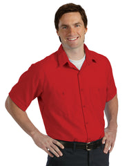 Red UniWeave® Soft Comfort Uniform Shirts Shown in UniFirst Uniform Rental Service Catalog