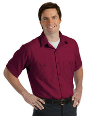 Burgundy UniWeave® Soft Comfort Uniform Shirts Shown in UniFirst Uniform Rental Service Catalog