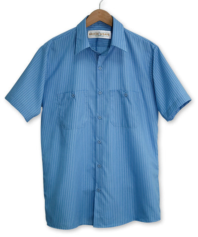 Breeze Weave® Striped Short Sleeve Uniform Shirts
