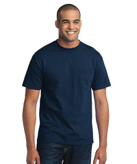 Men's Short Sleeve Pocket T-Shirts (Navy) as shown in the UniFirst Uniform Rental Catalog.