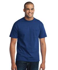 Men's Short Sleeve Pocket T-Shirts (Royal Blue) as shown in the UniFirst Uniform Rental Catalog.