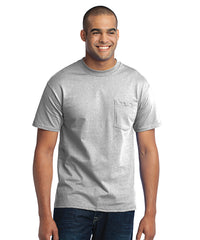 Men's Short Sleeve Pocket T-Shirts (Ash) as shown in the UniFirst Uniform Rental Catalog.