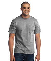 Men's Short Sleeve Pocket T-Shirts (Athletic Heather) as shown in the UniFirst Uniform Rental Catalog.