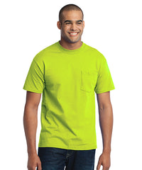Men's Short Sleeve Pocket T-Shirts (Safety Green) as shown in the UniFirst Uniform Rental Catalog.