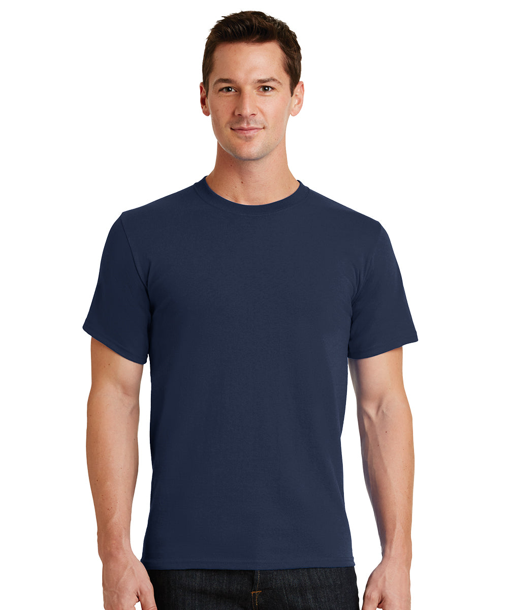 Short Sleeve 100% Cotton Classic Men's T-Shirts (Navy) as shown in the UniFirst Uniform Rental Catalog.